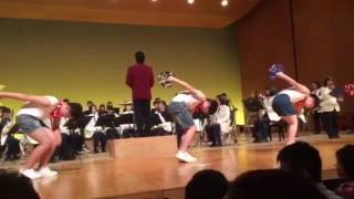 やまびこコンサート午前の部 天理中学校吹奏楽部1年生のゴンゾーフレンズ.