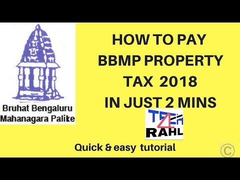 How To Pay BBMP Property Tax 2018