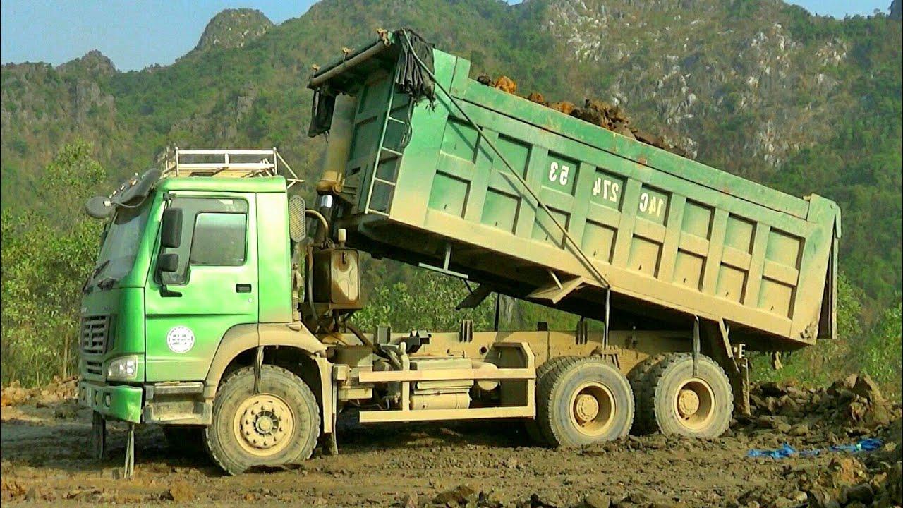 Xe Ô Tô Tải Ben Chở Đất Và Đổ Đất | Dump Truck | TienTube TV
