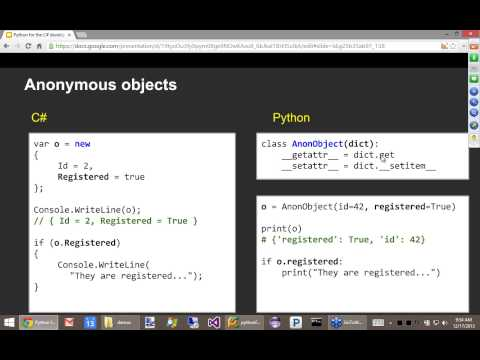 Python for the C# developer