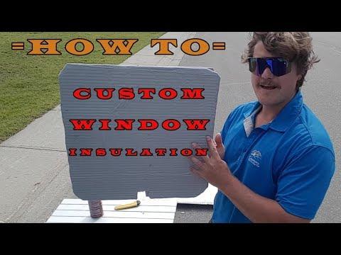 DIY- WINDOW INSULATION TUTORIAL- Van Life