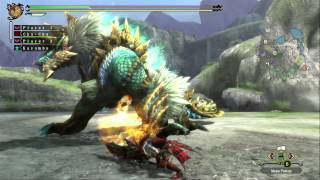 Monster Hunter 3 Ultimate - Zinogre Gameplay (Wii U)