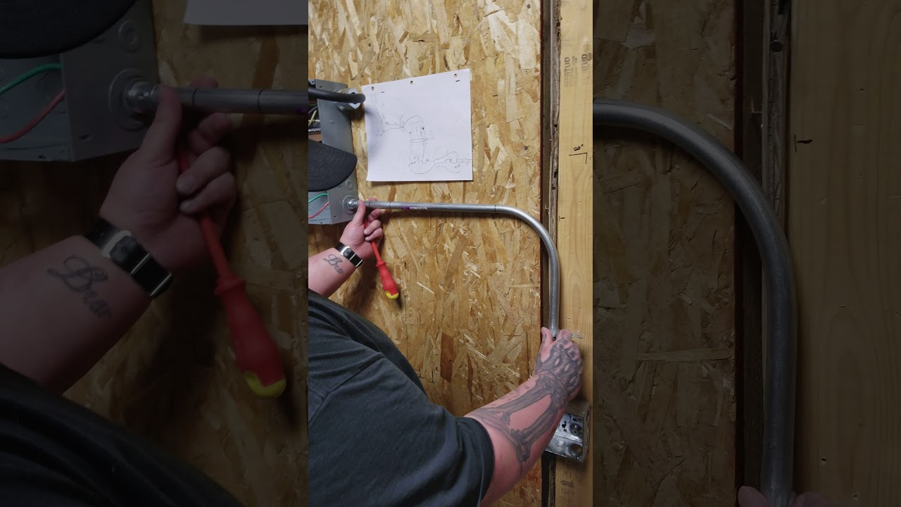 Emt Conduit Installation Youtube Wiring Installing Metal How To Install Electrical