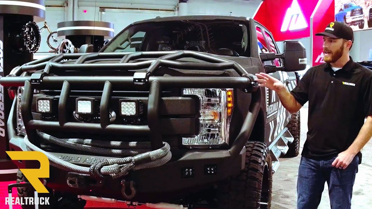Road Armor Bumpers American Valor 2017 Ford F-350 Superduty Build | SEMA 2017 - YouTube