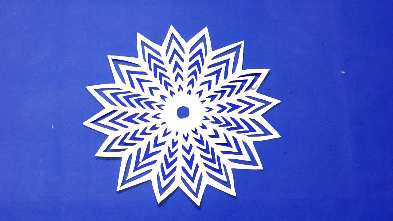 star wars snowflakes-How to make paper snowflakes easy? Paper cutting  design