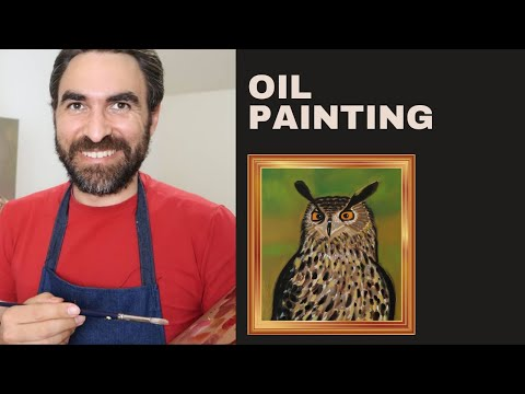 How to paint an owl  | Oil painting lessons