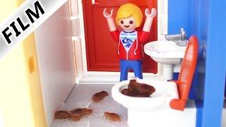 Playmobil historyjka- Marvin robi kupę i zatyka toaletę!