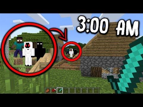 I Found NULL, HEROBRINE & ENTITY 303 On This CREEPY Minecraft World At 3:00 AM...
