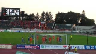 2010 Jリーグ Div1 第27節第1日 モンテディオ山形vs清水エスパルス 増田...