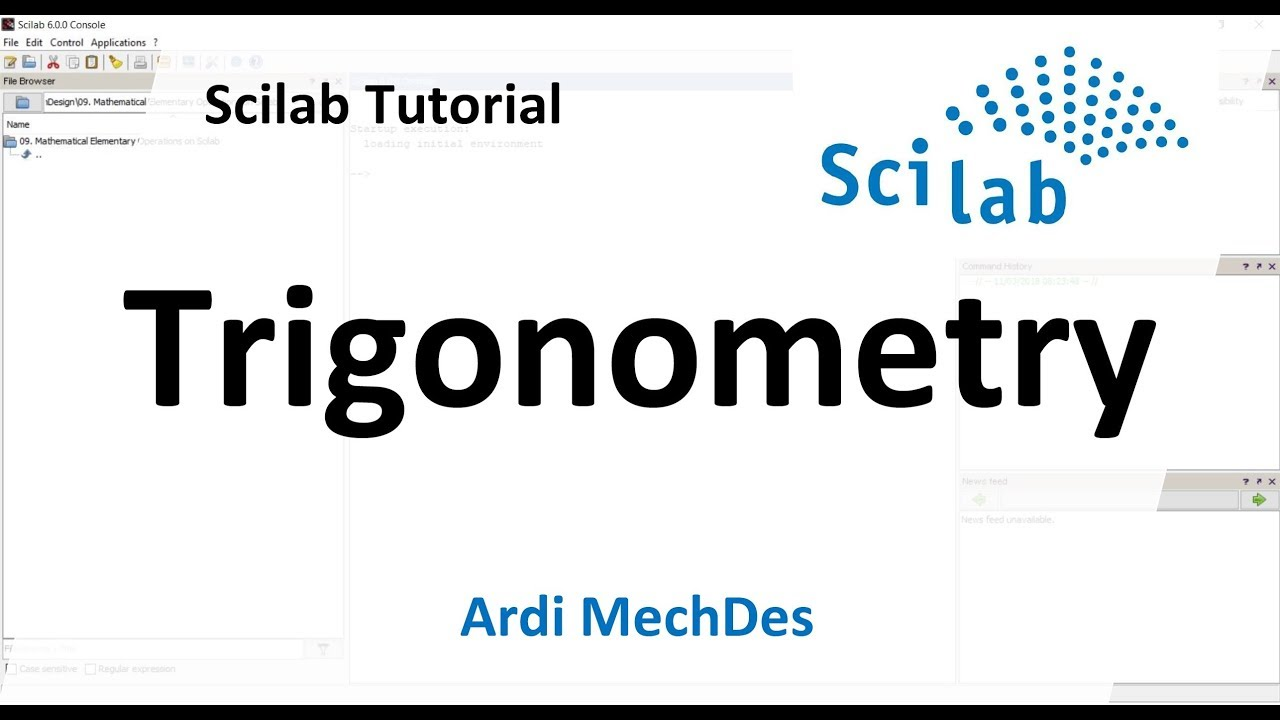 Scilab Tutorial - Trigonometry in Radians and Degrees