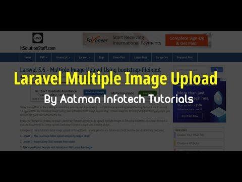Laravel 5 6 - Multiple Image Upload Using bootstrap-fileinput