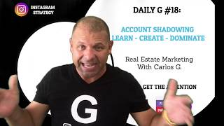 DAILY G #18 -   Instagram Growth Technique: Account Shadowing