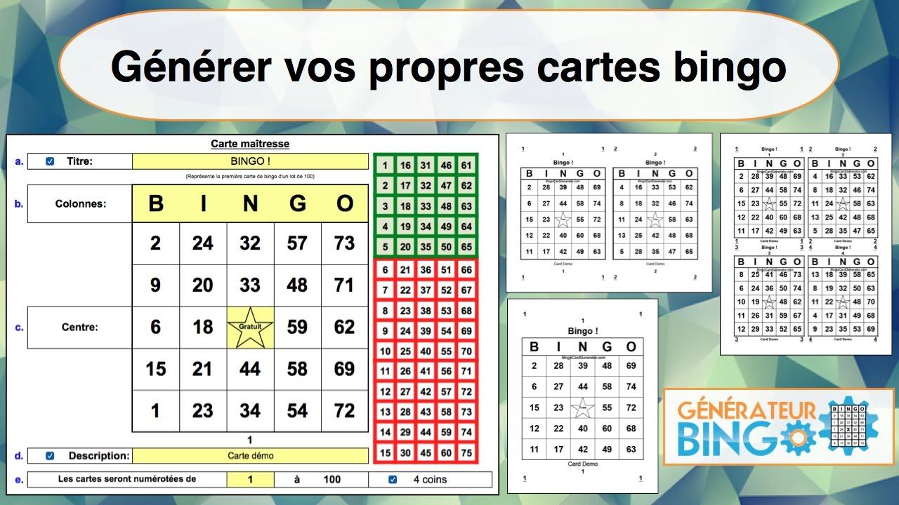 Plus adapté Cartes De Bingo — Place Desaulniers ME-78