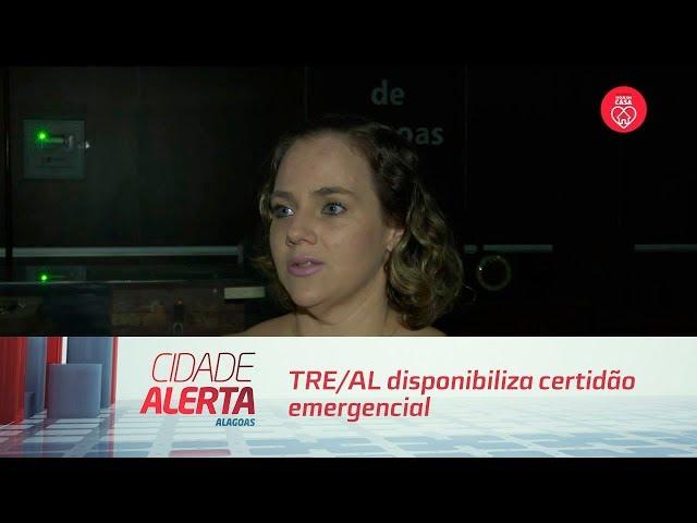 TRE/AL disponibiliza certidão emergencial para eleitores com pendências