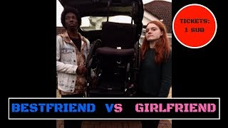 WHEELCHAIR RACE| GIRLFRIEND VS BEST FRIEND | WHO WILL WIN?