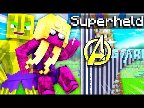 ISY & FLO SPIELEN 1 TAG als SUPERHELD?! - Minecraft ALLTAG