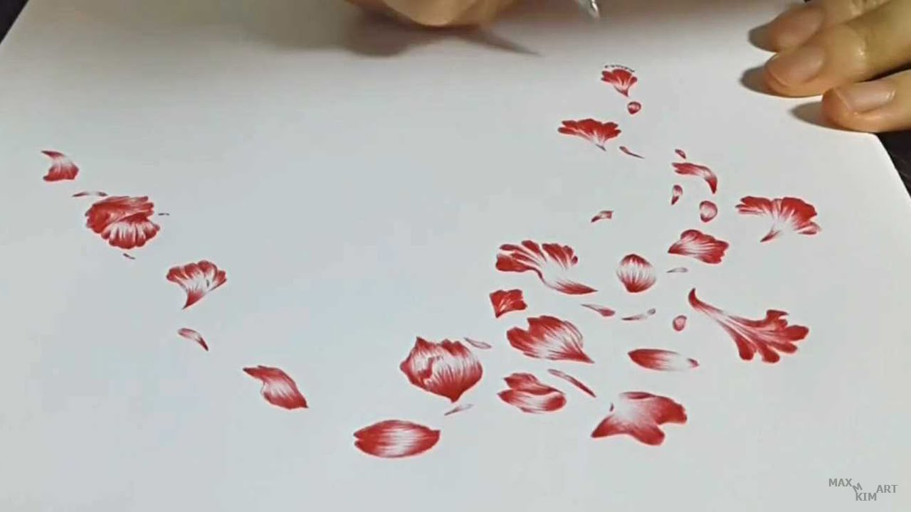 This is an image of Sassy Rose Petal Drawing