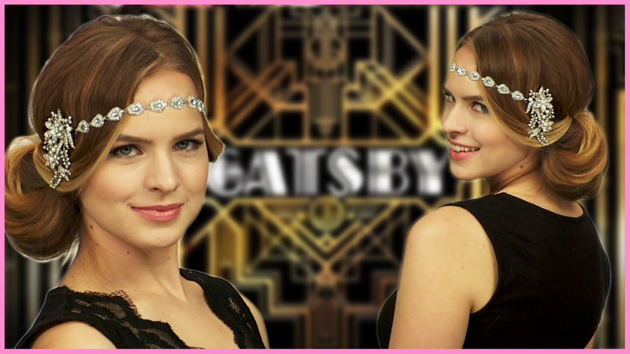 Easy Great Gatsby Inspired Halloween Hair Tutorial