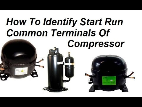 How To Identify Start Run Common Terminals Of Compressor - YouTube