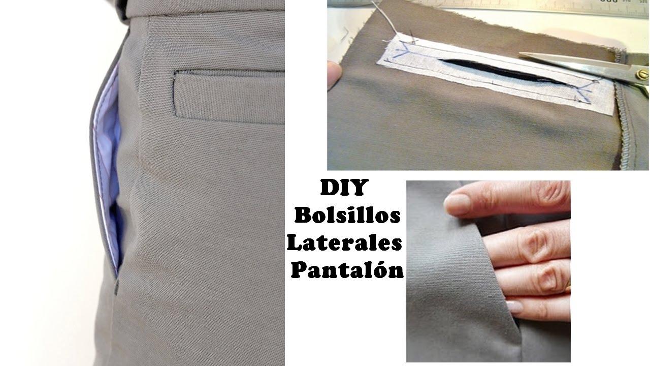 1ea0807b7a Tutorial para coser un bolsillo lateral de pantalon - YouTube
