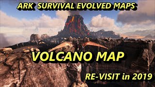 Ark Survival Evolved MAPS - THE VOLCANO MAP 2019