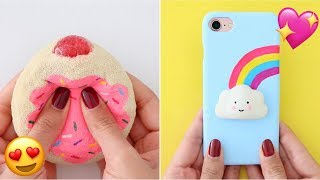 6 DIY STRESS RELIEVERS - Phone Cases, Hacks, Slime, Squishies & More!
