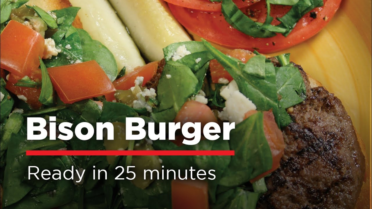 Best Bison Burger H E B Recipes Youtube