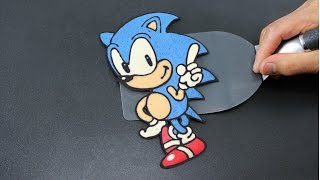 Repeat youtube video Pancake Art - Sonic the Hedgehog by Tiger Tomato