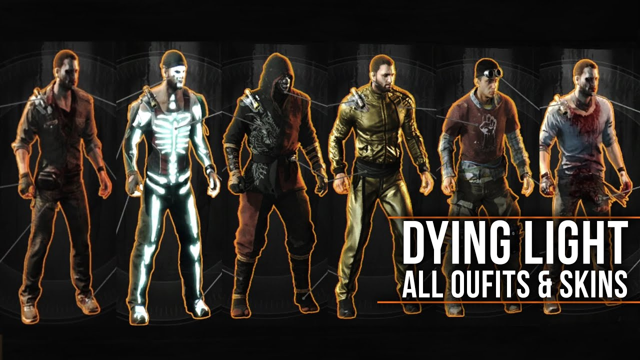 "Dying Light - ALL OUTFITS with LEGEND SKINS Showcase (Including Secrets &  DLCs) ""How to Unlock"""