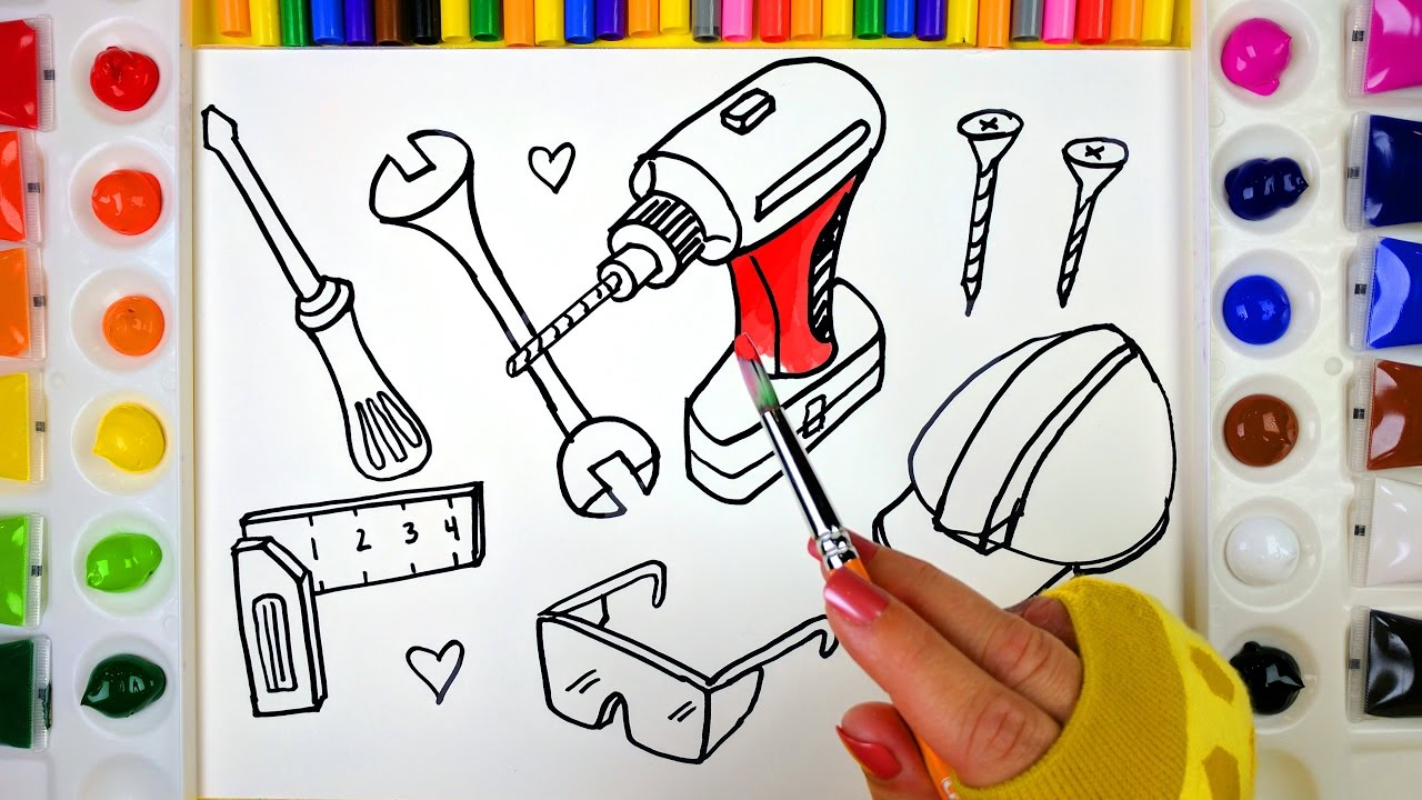 Coloring Tools 2 Popsciles Painting Pages for Kids to Learn Drawing ...