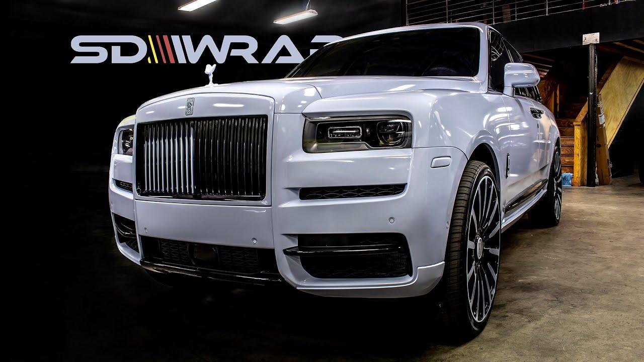 Wrapping RAPPER Boosie BadAzz's NEW Rolls Royce Cullinan!