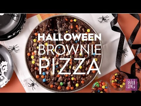 Halloween Brownie Pizza | Fun With Food | Better Homes & Gardens
