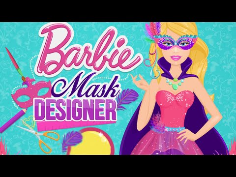 Barbies masquerade party movie video game masquerade mask desgner new barbie game for girls