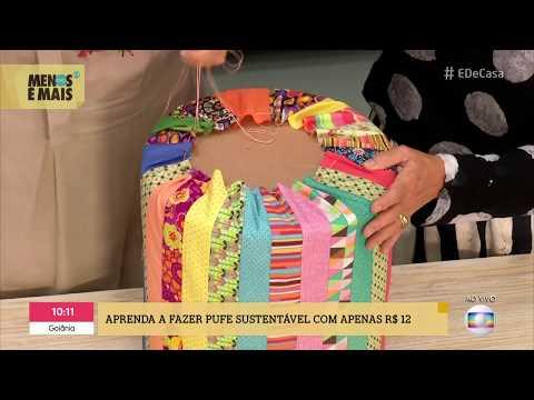 DÉCOR SUSTENTÁVEL - PUFE COM GARRAFAS PET - Lu Gastal No É De Casa