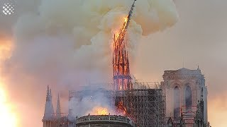 Notre Dame Cathedral fire in Paris destroys iconic spire