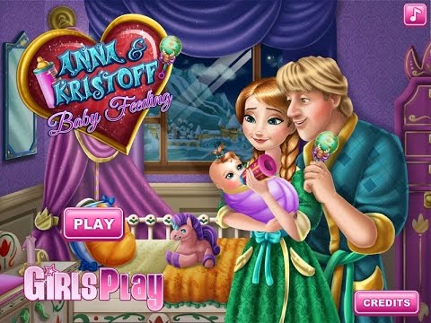 Frozen Anna and Kristoff Baby Feeding Games For Kids - Gry ...