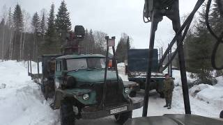 Последние дни зимы 2020 Урал лесовоз