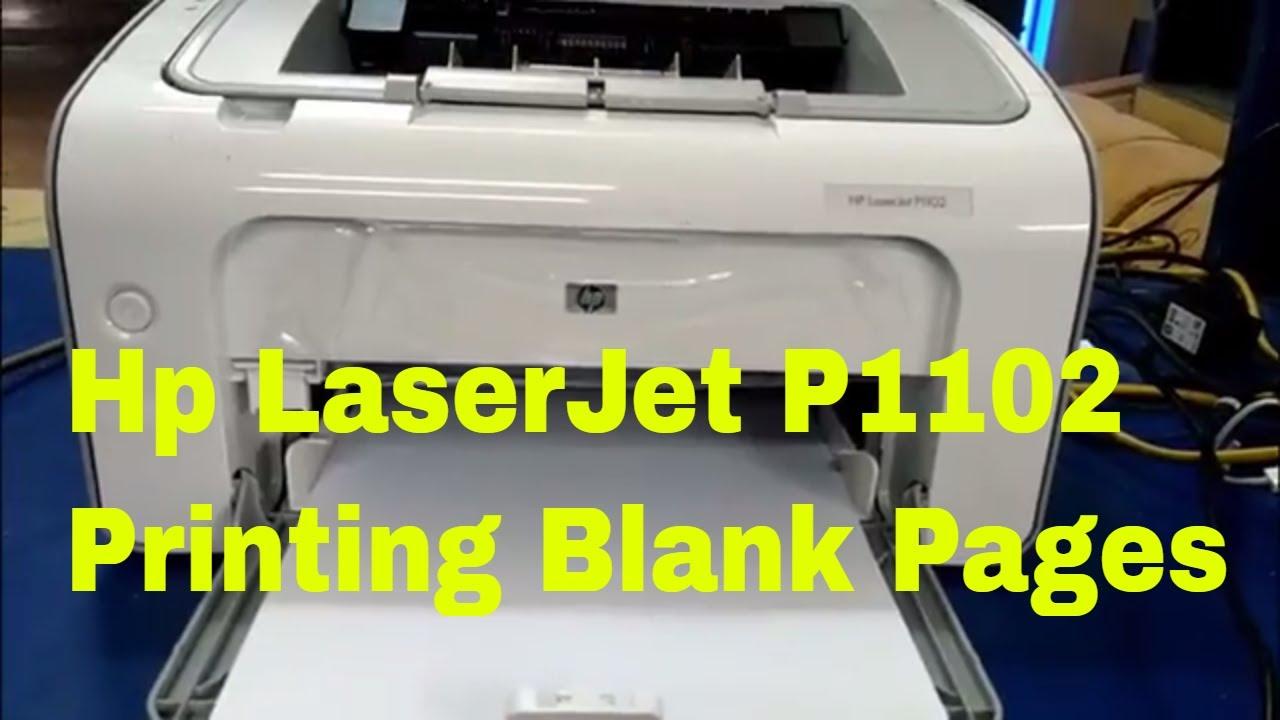 Hp LaserJet P1102 Printing Blank Pages