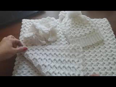 Спальный мешок крючком для новорожденного