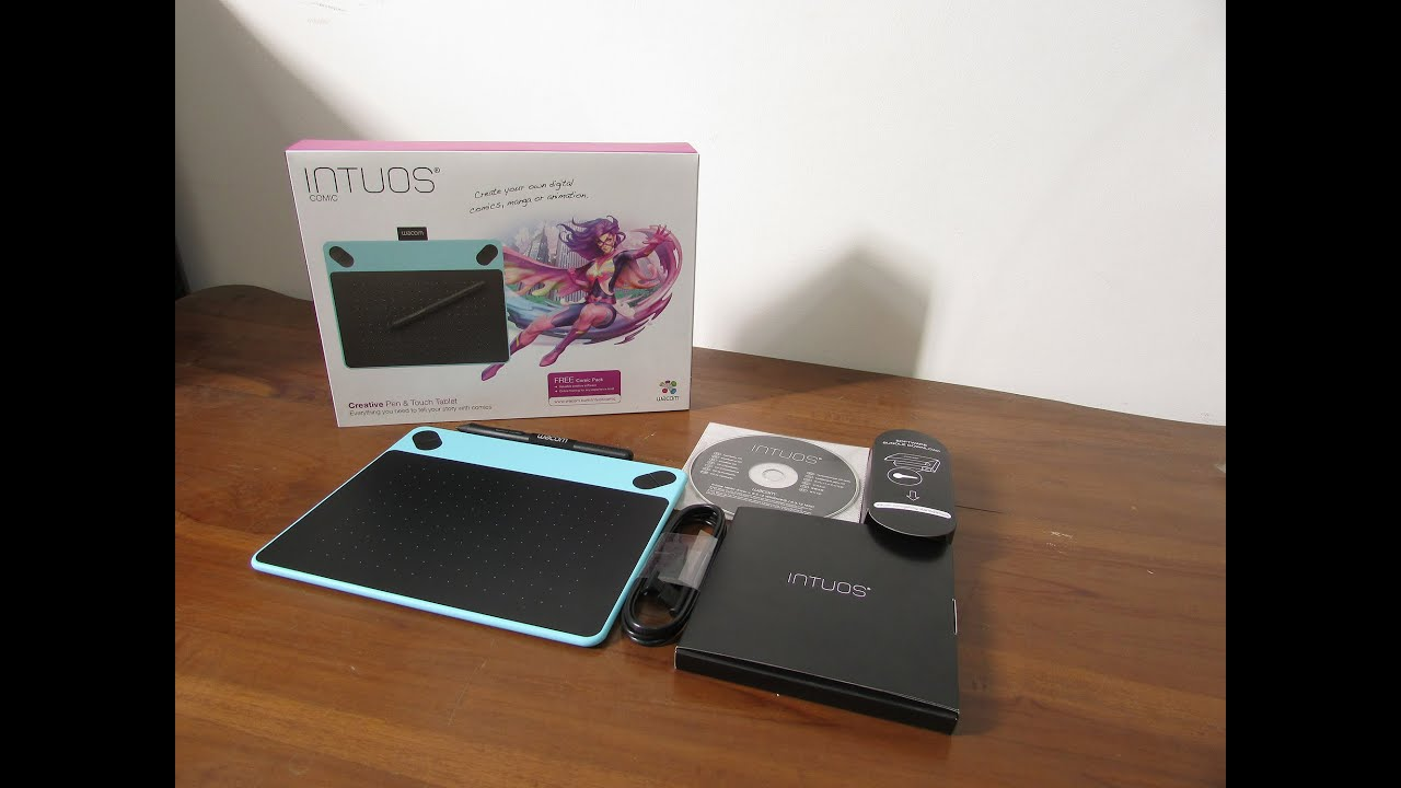 Unboxing Wacom Intuos Comic CTH-490 [Indonesia] - YouTube