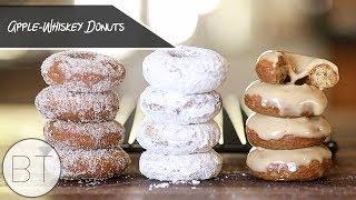 Apple-Whiskey Donuts (Vegan)