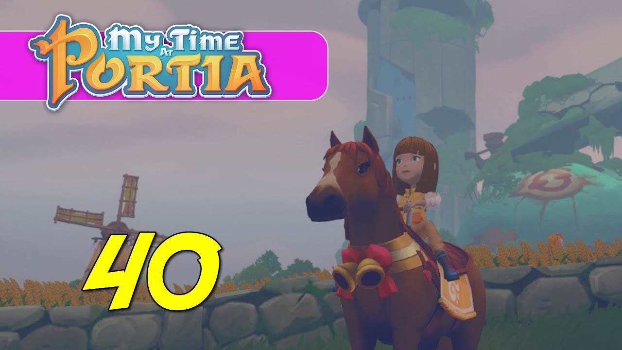 My Time At Portia Lets Play Ep 40 Horse Rental Youtube