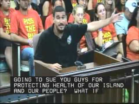 Dustin Barca Testifies Kauai County Council Sept  27, 2013