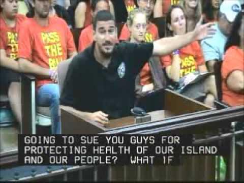 Dustin Barca Testifies Kauai County Council Sept  27, 2013