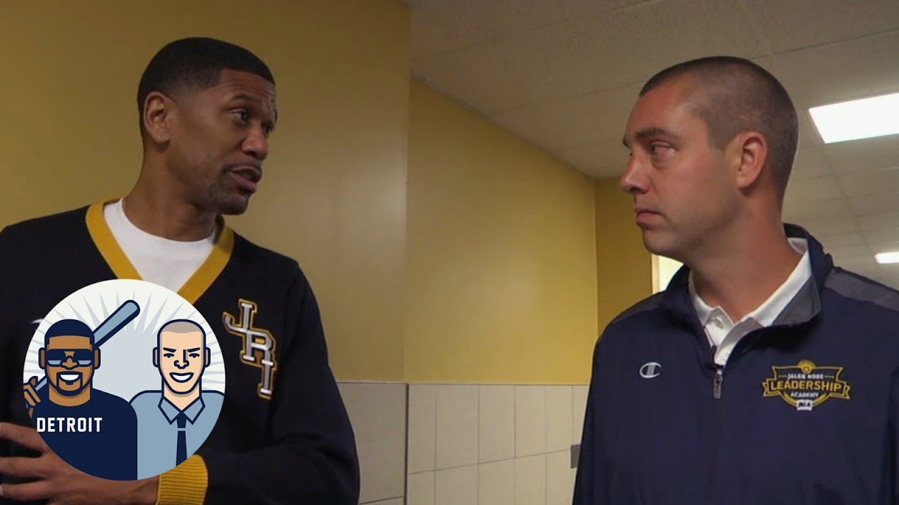 David Jacoby tours the Jalen Rose Leadership Academy charter