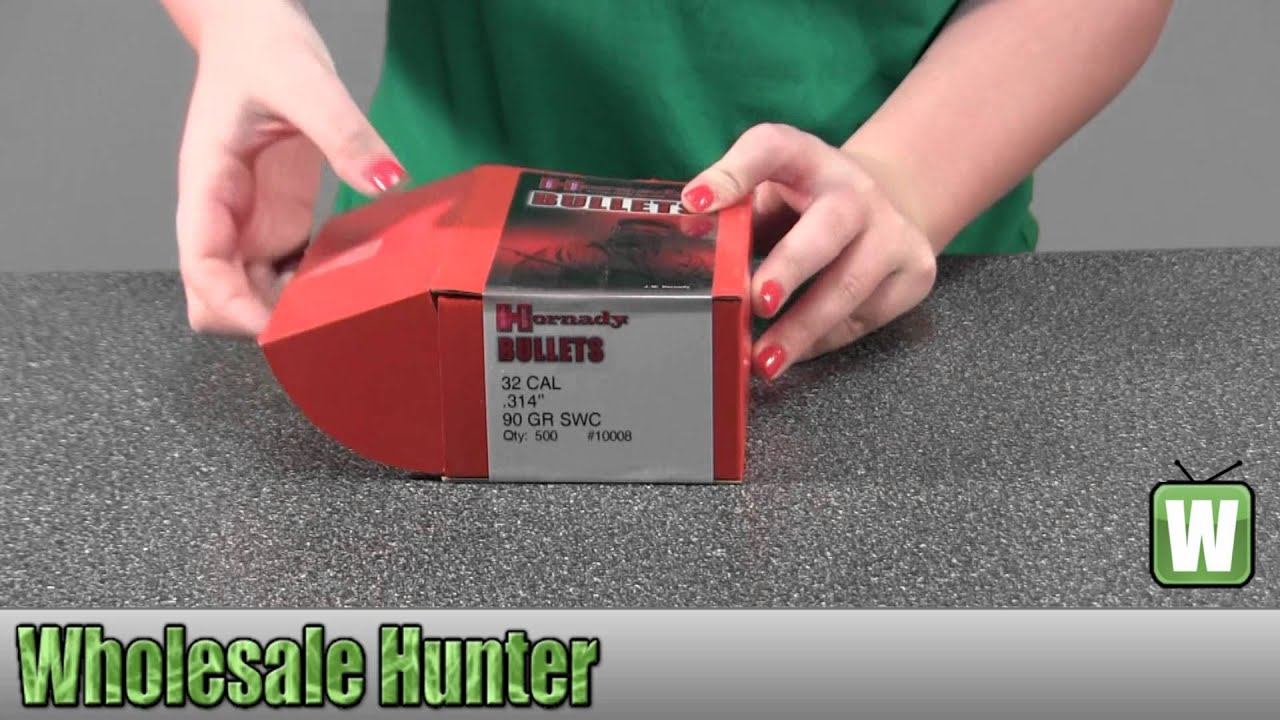 Hornady 32 Caliber Lead Pistol Bullets 10008 90Gr Semi-Wadcutter Per 500  Shooting Gaming Unboxing