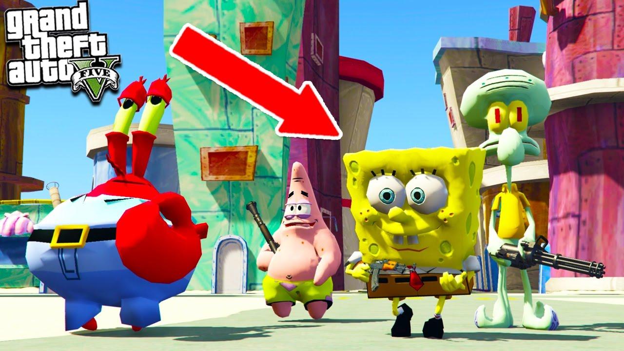 Spongebob Thinks Hes Playing Gta