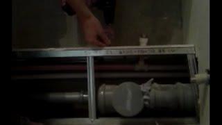 Как спрятать канализационные трубы в ванной под гипсокартоном (How to hide plumbing pipes)?(Видео показывает, как спрятать канализационные и водопроводные трубы под гипсокартоном в ванной. Для этого..., 2016-02-15T12:05:20.000Z)