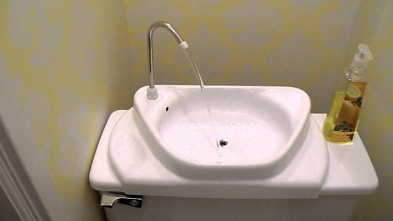 Our New Toilet Tank Sink - YouTube
