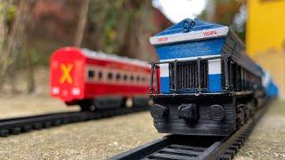 WDP4 Couping Coal Wagons and Rajdhani Express and Humsafar Mix Train